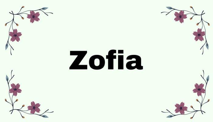 Magia imion - Zofia
